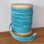 Blue velvet ribbon
