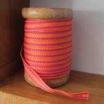 Orange & pink stripped ribbon